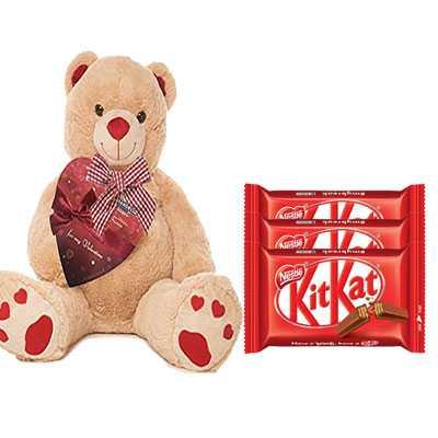 Big Teddy with Kitkat