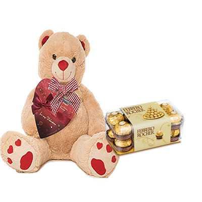 Big Teddy with Ferrero Rocher