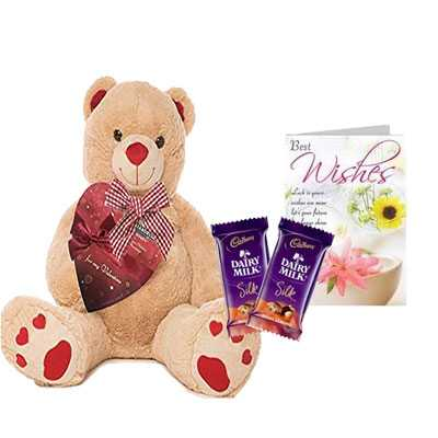 Big Teddy with Silk & Card
