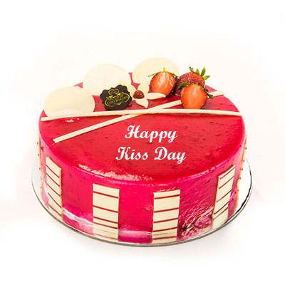 Kiss Day Strawberry Cake