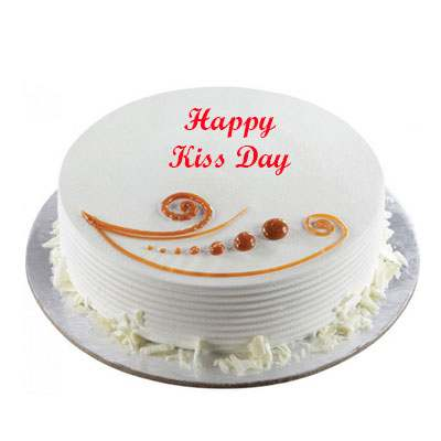 Kiss Day Vanilla Cake
