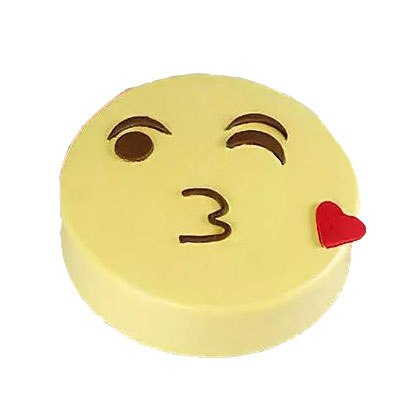 Kiss Day Emoji Cake