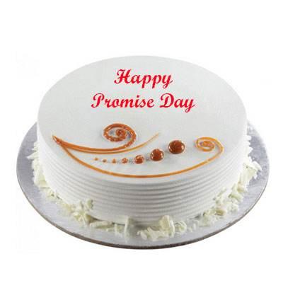 Promise Day Vanilla Cake
