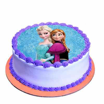 Cute Princess Chocolate Photo Cake