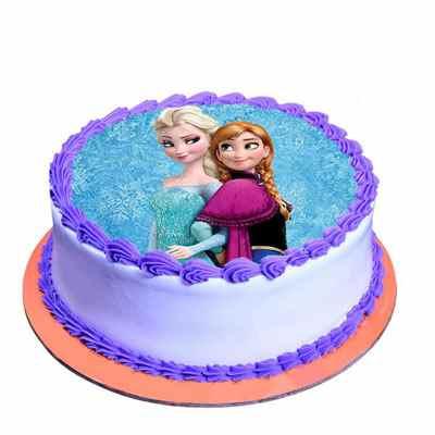 Cute Princess Chocolate Photo Cake