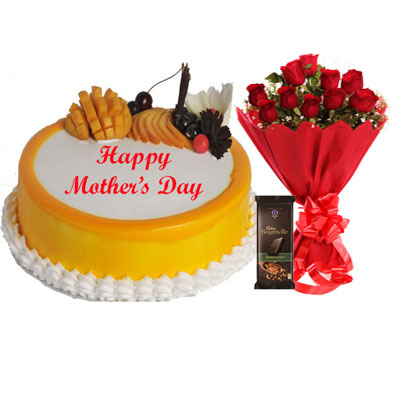 Mothers Day Mango Cake, Bouquet & Bournville