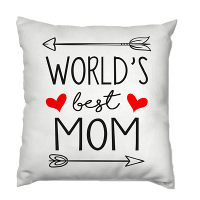 Words Best Mom Cushion
