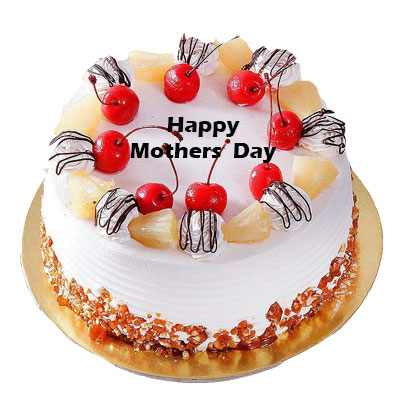 Mothers Day Pineapple Cherry Cake