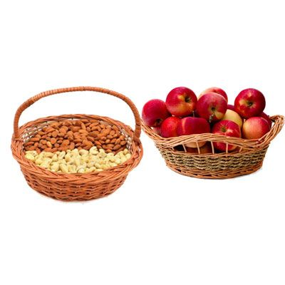 Almonds, Cashew & Apple Basket