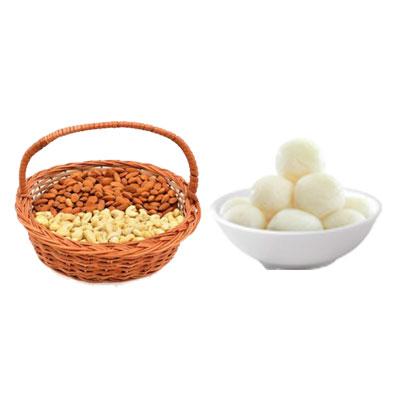 Almonds, Cashew & Rasgulla