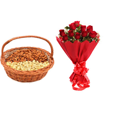 Almonds, Cashew & Red Roses