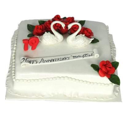 Happy Anniversary Pineapple Cake