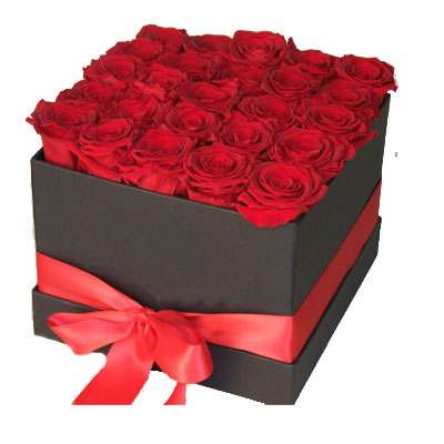 Red Roses Square Box