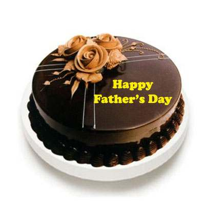 Fathers Day Chocolate Truffle Cake