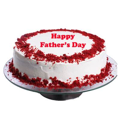 Fathers Day Red Velvet Cake