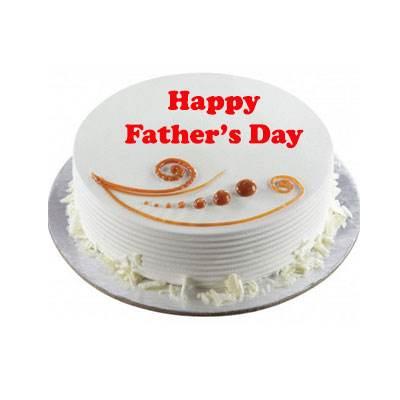 Fathers Day Vanilla Cake