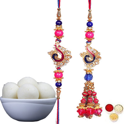 Lumba Rakhi For Brother Bhabi With Rasgulla