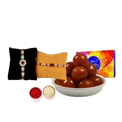 Rakhi Set with Gulab Jamun & Celebration