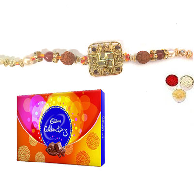 Swastik Rakhi For Bhai With Celebration