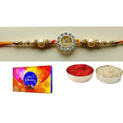 Swastik Rakhi With Celebration