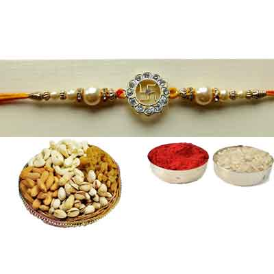 Swastik Rakhi With Mix Dry Fruits