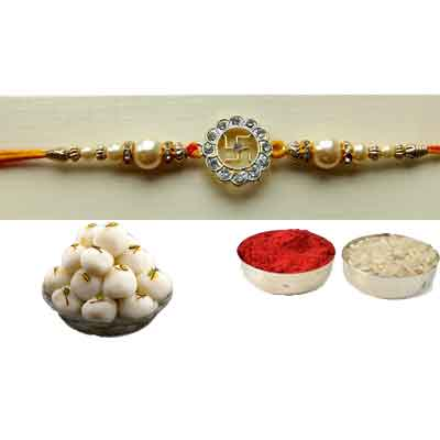Swastik Rakhi With Rasgulla