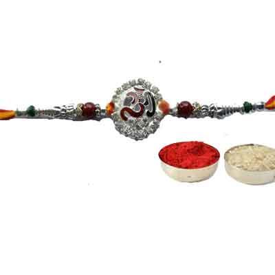 Silver Om Rakhi