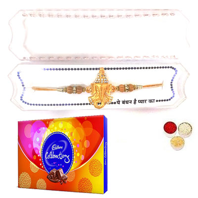 Shri Ganesha Rakhi With Celebration