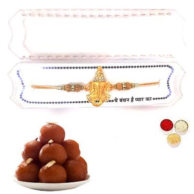 Shri Ganesha Rakhi With Gulab Jamun
