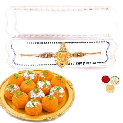 Shri Ganesha Rakhi With laddu