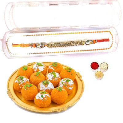 Precious Rakhi With Laddu