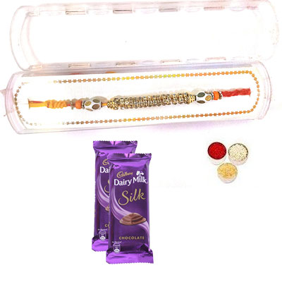 Precious Rakhi With Silk