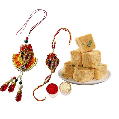 Lumba Rakhi Set with Soan Papri