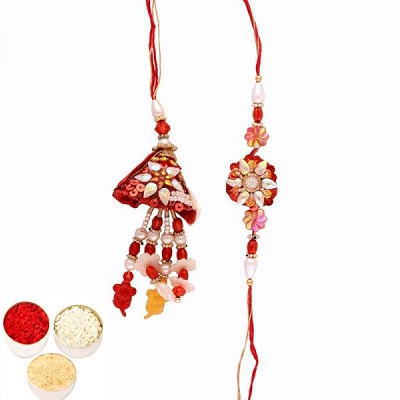 Awesome Rakhi Set for Bhaiya Bhabhi