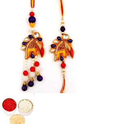 Designer Diamond Bhaiya Bhabhi Rakhi