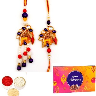 Designer Diamond Bhaiya Bhabhi Rakhi & Celebration