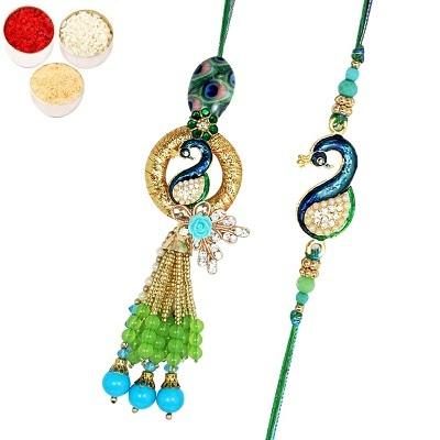 Peacock Rakhis For Bhaiya Bhabhi