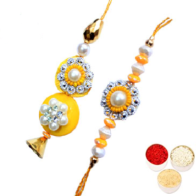 Yellow Lumba Rakhi