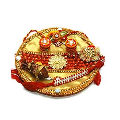 Decorated Rakhi Thali