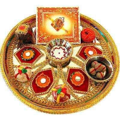 Decorative Rakhi Thali