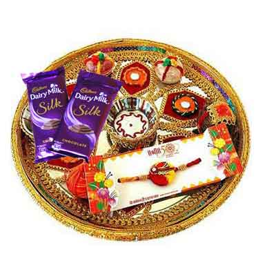Rajasthani Rakhi Thali with Silk