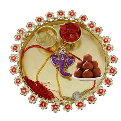 Rakhi Thali for Brother with Gulab Jamun