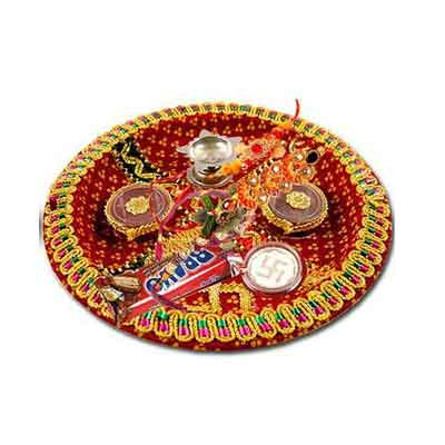 Traditional Rakhi Pooja Thali