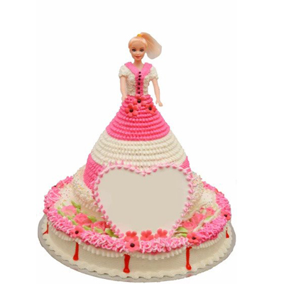 Beautiful Barbie Doll Cake