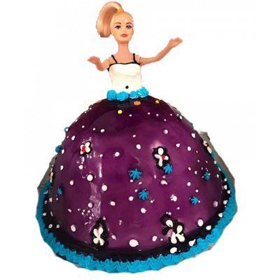 Blueberry Barbie Doll Cake