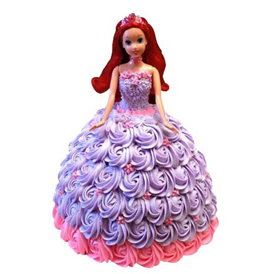 Butterscotch Barbie Doll Cake