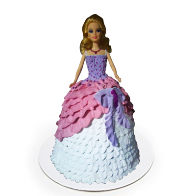 Delicious Blue Barbie Doll Cake
