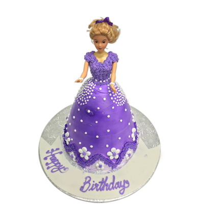Happy Birthday Barbie Doll Cake