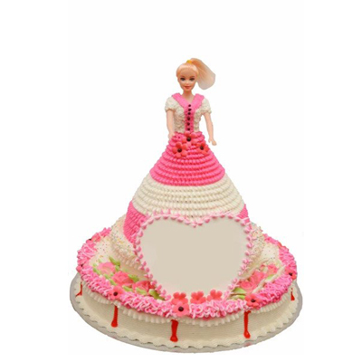 Heart Touching Barbie Doll Cake