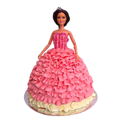 Pink Barbie Doll Cake